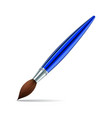 paint brush on white background vector image vector image
