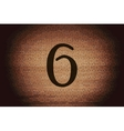 number six icon symbol Flat modern web design with vector image
