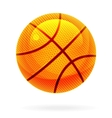 orange basket ball vector image