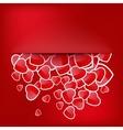 Paper Sticker Valentines day EPS 10 vector image
