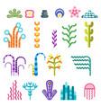 set underwater plants vector image