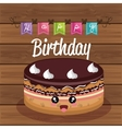 sweet birthday cake card vector image