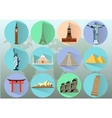 world Landmarks countries of the world vector image