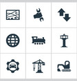 set of simple public icons vector image