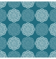 White lace flower pattern on navy blue background vector image
