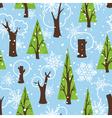 Seamless winter pattern vector image