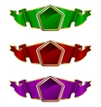 Collection frame with ribbon in 3 color vector image