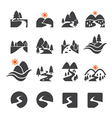 river icon set vector image