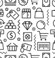 Different shopping seamless pattern vector image