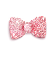 Sparkling pink glitter decorated bow for a girl vector image