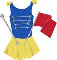 Majorette Uniform vector image