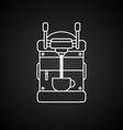 coffee machine cartoon theme vector image