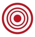 bullseye target icon vector image