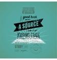 Typography retro bookstore poster design vector image