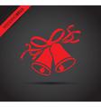 wedding bells red vector image