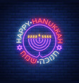 background of chanukah with menorah and vector image