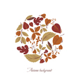 Circle from colorful leaves vector image