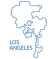 Los Angeles map vector image