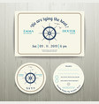 Nautical we are tying the knot wedding invitation vector image