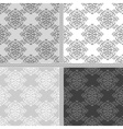 Seamless ethnic monochrome pattern vector image
