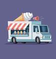 simplified ice cream truck vector image
