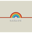 Stylish Rainbow design vector image