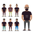 cartoon male for graphic design web site social vector image