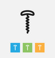 of meal symbol on corkscrew vector image