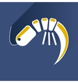 Flat with shadow Icon shrimp on stylish background vector image