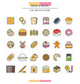 bread and pastry vector image