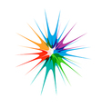 Color Paint Star vector image