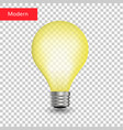 creative light bulb isolated transparent vector image