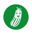 cucumber vegetable kawaii character vector image