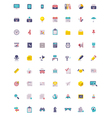 Flat business and office icon set vector image