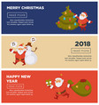 merry christmas and happy new year 2018 internet vector image
