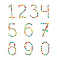 MOSAIC numbers vector image