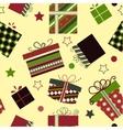 Retro Christmas Gift boxes vector image