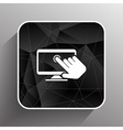 Touch screen icon display finger tap vector image