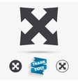 Fullscreen sign icon Arrows symbol vector image