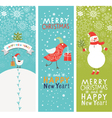 Set of vertical Christmas and New Year banners vector image vector image