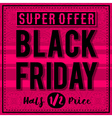 Black friday sale banner on patterned pink backgro vector image