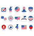 election icons and buttons vector image vector image