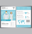 medical brochure design template healthcare and vector image