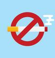 no smoking icon flat design icon vector image