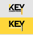 the inscription key modern logo and emblem vector image