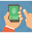 mobile phone security vector image vector image