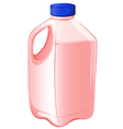 A gallon of strawberry milk vector image