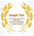 Wreath of stylized wheat ears vector image vector image