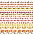 autumn border patterns vector image