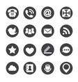 Web communication icons internet set vector image